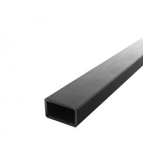 Barre profilée tube 40x20mm longueur 3m rectangulaire lisse acier brut