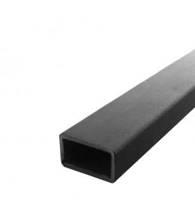 Barre profilée tube 80x40mm longueur 2m rectangulaire lisse acier brut