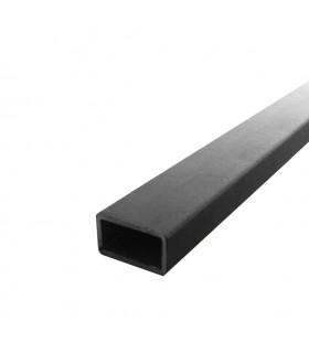 Barre profilée tube 40x27mm longueur 2m rectangulaire lisse acier brut