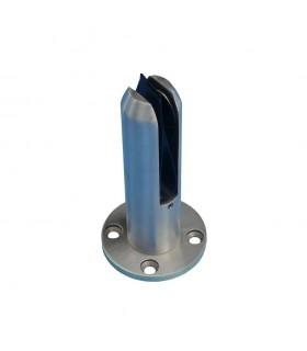 Pince à verre fixation sol en inox 316 pour verre epr 12,76mm