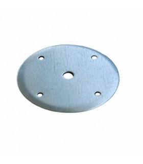 Platine acier galvanisé de fixation centrale de pergola mistral ou alizée