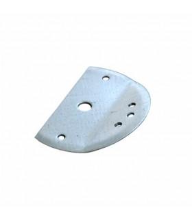 Platine inclinée acier galvanisé de fixation de pergola mistral ou alizée
