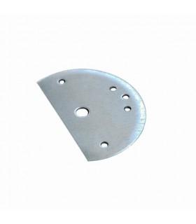 Platine demi lune acier galvanisé de fixation de pergola mistral ou alizée