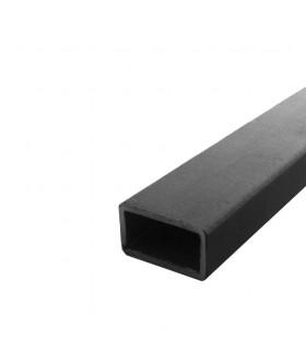 Barre profilée tube 60x40mm longueur 3m rectangulaire lisse acier brut