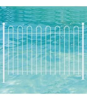 Barrière de piscine avec balustres arrondis en kit à souder soi-même