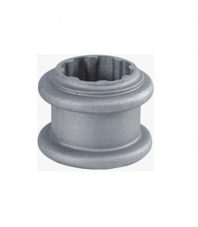 Rondelle décorative aluminium pour tube cannelé Ø80mm