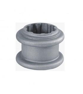 Rondelle décorative aluminium pour tube cannelé Ø100mm