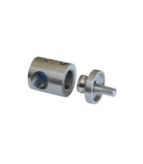 Connecteur en applique pour rond Ø12mm et plat ou tube carré