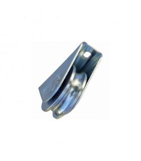 Roulette à visser Ø60mm avec gorge en U pour portails coulissants