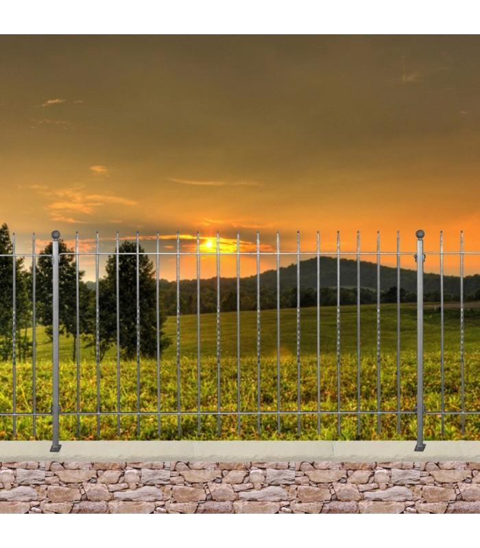 Grille cloture livorno 10 pr te poser - Cloture de jardin facile a poser ...
