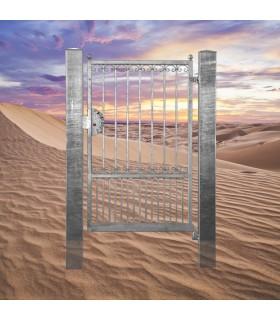 Portillon fer forgé GEA 1,1m carré de 14x14mm ouverture droite ou gauche