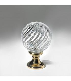Pommeau cristal et bronze H145 Ø100