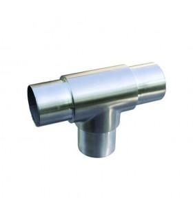 Connecteur en té de tube rond Ø48,3mm INOX304