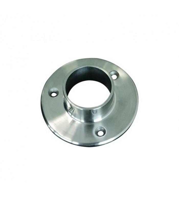 Connecteur droit, plaque de fixation  Ø42,4mm INOX304