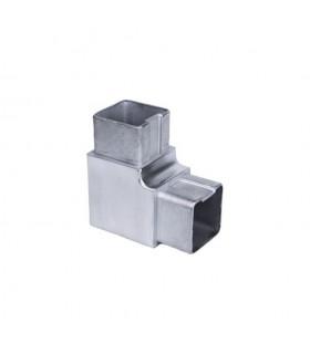 Connecteur en angle coudé 90° 40 x 40mm INOX316