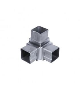 Connecteur 3 axes de tube carré 40x40mm INOX316