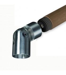 Connecteur orientable Ø42,4mm INOX304 pour rampes en bois