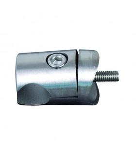 Pince à tôle Ø42,4mm pour profil d'encadrement Ø18mm INOX304