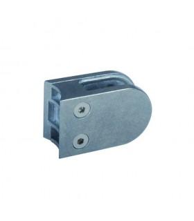 Pince à verre ronde 64mm en zamac brut pour tube Ø42,4mm