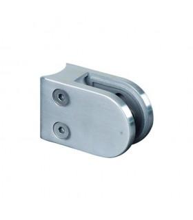 Pince à verre ronde 64mm en INOX316 pour tube Ø42,4mm
