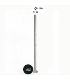Poteau d'angle taraudé montage câble ou rond plein INOX316