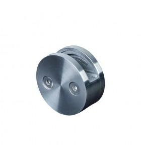 Pince à verre ronde Ø60mm en inox 316 pour poteau Ø42,4mm
