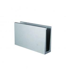 Profil aluminium pour verre de 66-2 pour garde-corps fixation au sol