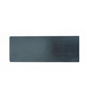 Plaque de finition latérale pour rail avec fixation au sol