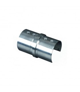 Union droit de main courante inox ronde Ø42,4mm
