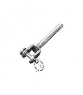 Chape standard filetée M6 pas à droite ou gauche pour tendeur de câble