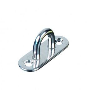 Platine base ovale avec anneau inox 316