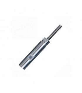 Fixation inox à visser pas à droite ou gauche pour câble Ø4mm