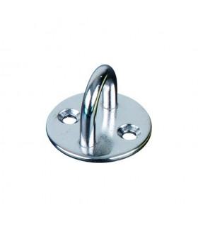 Platine base ronde avec anneau inox 304