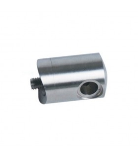 Connecteur en applique gauche pour câble Ø4mm sur tube