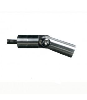 Equerre articulée de fixation pour connecteur en applique pour tendeur de câble inox ou tendeur à sertir
