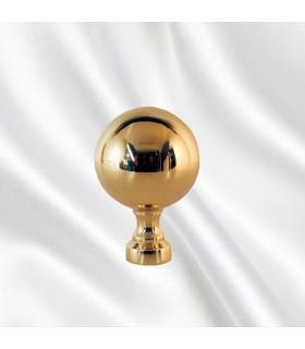 Boule escalier laiton poli hauteur 60mm