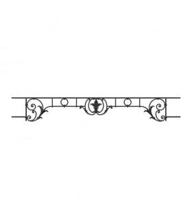 Appui de fenêtre fonte modèle CHAMBORD largeur utile 1200 à 1350mm