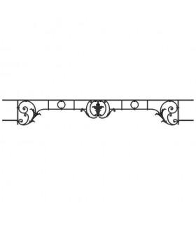 Appui de fenêtre fonte modèle CHAMBORD largeur utile 1300 à 1450mm