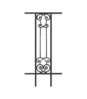 Balustrade en fonte modèle AMBOISE longueur utile 240 à 450mm hauteur du motif 910mm