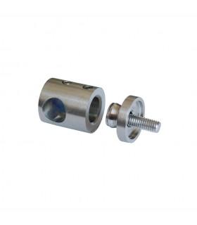Connecteur en applique pour rond Ø14mm et plat ou tube carré