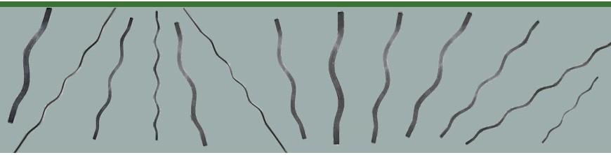 Balustres en acier ondulés