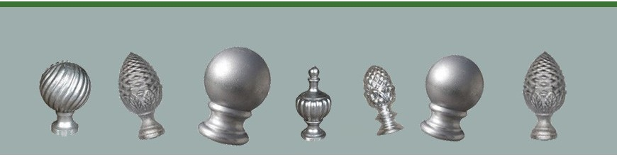 Boules et pommeaux d'escalier ou de clôtures en aluminium