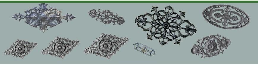 Palmettes aluminiums pour habiller les bas de portails et de vérandas
