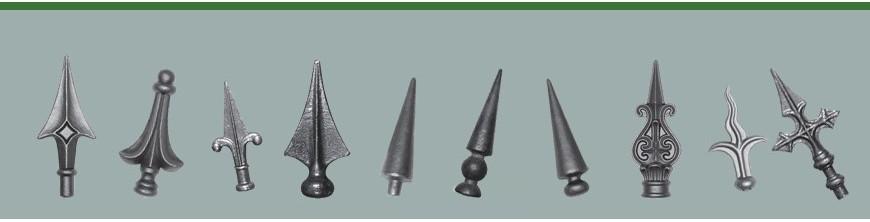 pointes de lance estampées en acier pour portail et clôtures