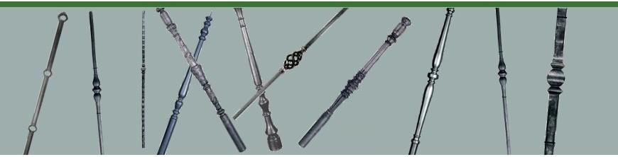 Poteaux décoratifs en acier et en fonte pour escaliers ou clôtures