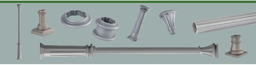 Poteaux en fonte ou en fonte d'aluminium, poteau colonnes pour structures ou vérandas,