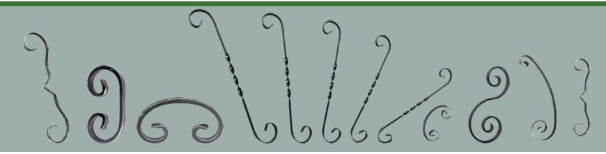 Volutes fer forgé avec extrémités simples