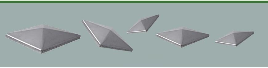 Couvre pilastres pour tube acier carré à coller ou à souder
