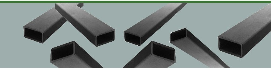 Barres de profilés tubes creux rectangulaires en acier brut pour métallerie