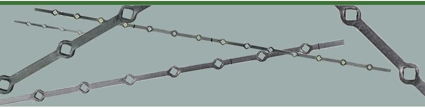 Barres percées, barres à trous renflés formés à chaud pour barrières et clôtures,